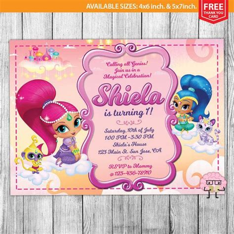 shimmer and shine invitation template free shimmer and shine invitations shimmer and shine birthday shimmer and shine invites shimmer