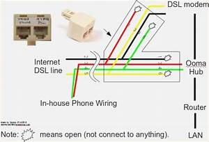 Diagram Amazing Phone Jack Wiring Diagram Dsl Picture