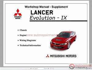 Mitsubishi Lancer Evo Ix 2005 Workshop Manual Supplement