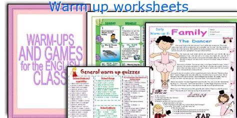 English Teaching Worksheets Warm Up