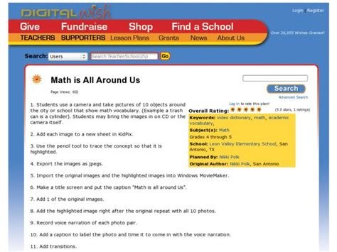 Math Is All Around Us Lesson Plan For 4th