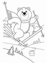 Skiing Coloring Ausmalbilder Ski Kinder Printable Mycoloring Malvorlagen Zum sketch template