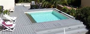 Prix Piscine Semi Enterrée : constructeur piscine bois installateur piscines piscine ~ Melissatoandfro.com Idées de Décoration