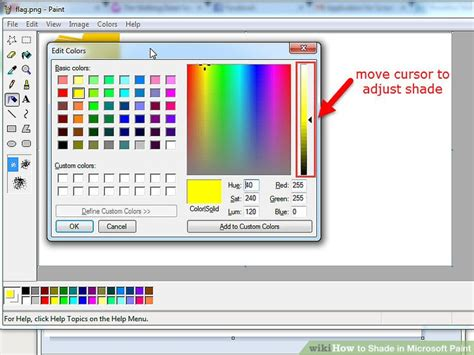 gold color code in ms paint how to shade in microsoft paint with pictures wikihow