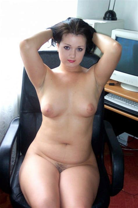 Ultra Chubby Secretary Presents Her Melons And Hairy Twat