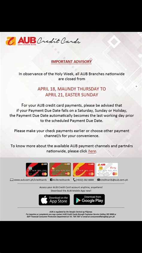 Ada enrollment is submitted for processing; AUB Asia United Bank Credit Cards 💳 - Page 156 — Personal Investing and Money Management ...