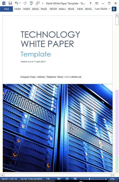 white papers ms word templates  tutorials