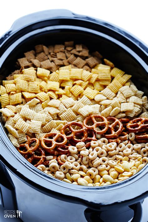 chex mix recipes slow cooker chex mix gimme some oven