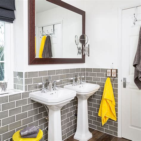 Yellow And Grey Bathroom Accessories Uk by Bathroom Ideas To Make The Most Of Bright Colours Ideal Home