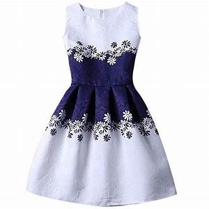 2018 new fashion summer flower girls clothes 6 7 8 yrs With robe fille 7 ans