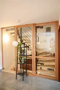 Offenes Treppenhaus Schließen Schiebetür : ein treppenhausabschluss im offenen wohnhaus schafft ruhe zwischen dem wohn und dem ~ Buech-reservation.com Haus und Dekorationen