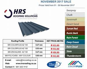 roof sheeting price list With color steel roofing price list