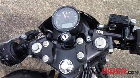 Speedometer Kawasaki W175 by Modifikasi Kawasaki W175 Cafe Racer Inspiratif