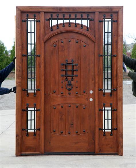 rustic front doors rustic doors exterior alder doors arch top door