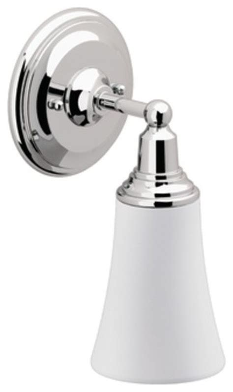 moen rothbury chrome single bath light traditional