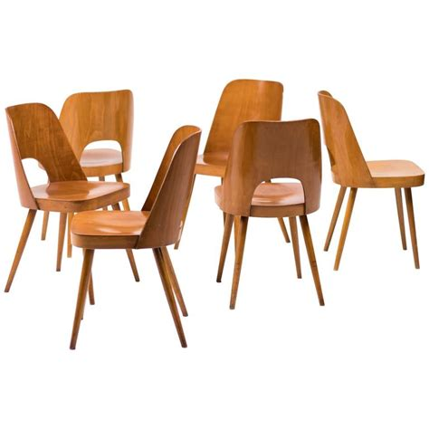 Thonet Bentwood Chair History by Set Of Six Bentwood Chairs By Oswald Haerdtl For Thonet