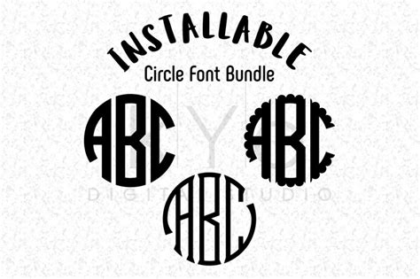 All designs come with a small business commercial license. Free Installable Circle Monogram Fonts Bundle, Circle TTF ...