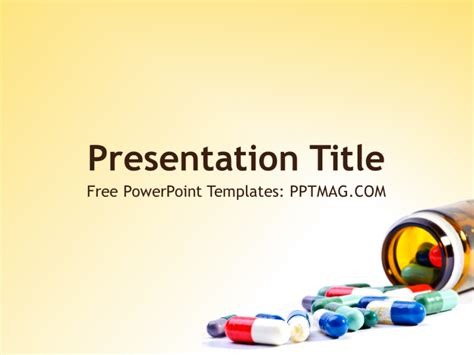 pharmacy powerpoint template pptmag