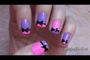 Easy nail art for beginners beginner designs quot cute bows and love this