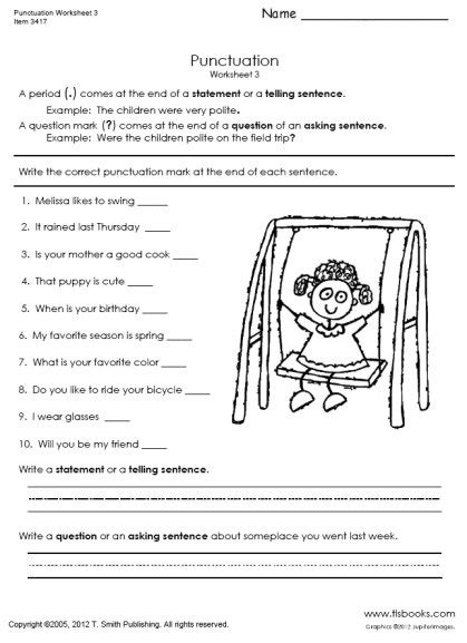17 Best Images Of Punctuation Practice Worksheets  Punctuation Worksheets Grade 3, Missing