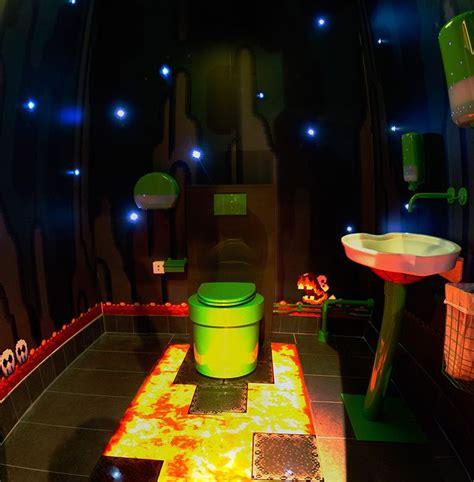 Super Mario World Underground Themed Bathroom At Swedish