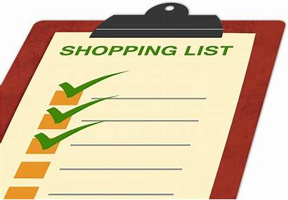 Shopping Clipart Grocery Clip Lists Healthy Cliparts