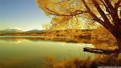 Scenes Autumn Wallpapers Fall Nature Lake Screensavers
