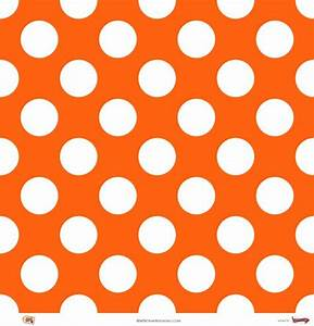 Orange Polka Dots | Megadots : Orange On White Large Polka ...