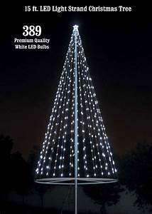 Flagpole christmas tree kit white uncommon usa