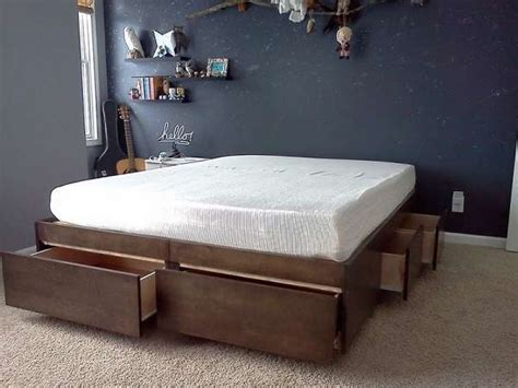smart diy storage bed design ideas