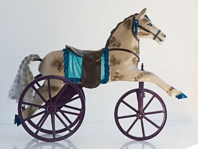 about antique rocking and pull horses on pull folk and tricycle