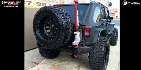 jeep wrangler fuel crush  wheels black machined