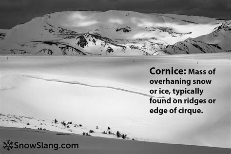 cornice definition snow cornice definition photos from snowslang