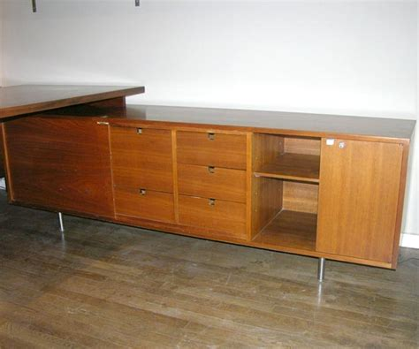 george nelson l george nelson l shaped walnut executive desk herman miller at 1stdibs