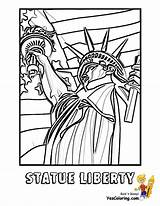 Coloring July 4th Pages Liberty Statue Patriotic Printable Fourth Usa Print Printables Yescoloring Fireworks America Boys sketch template