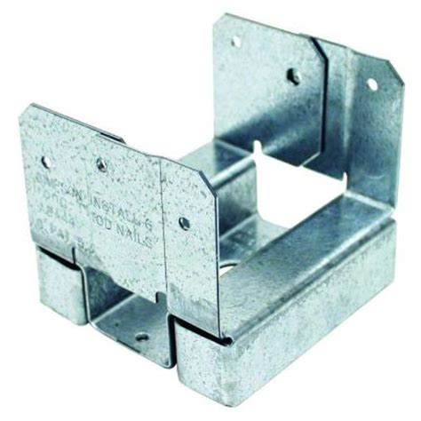 strong tie aba 4x4 zmax galvanized adjustable post