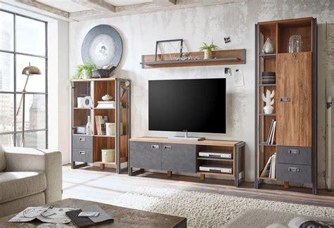 home affaire 4 teilige wohnwand 187 detroit set 3 171 im angesagten industrial look kaufen otto
