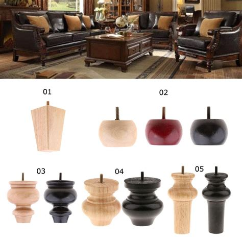 Sofa Legs Wood by 4 Pieces Wooden Furniture Foot Sofa Legs Replacement Chair