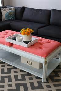 diy padded desk diy how to upholster a coffee table