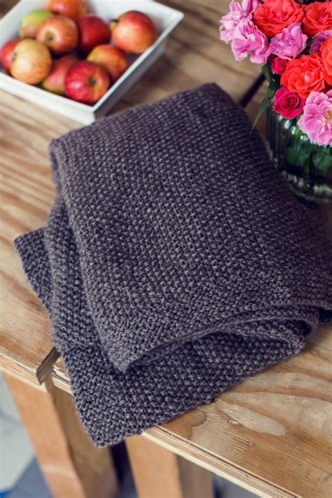 Handgestrickte Decke  Initiative Handarbeit