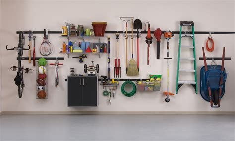 garage wall organization systems affordable garage organization get on the quot fasttrack