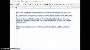 quick formatting for a works cited page in google docs With how to work google documents