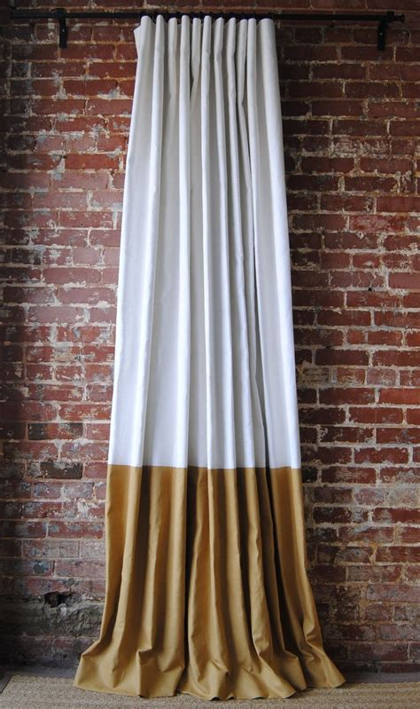 gold silk drapes best 25 color block curtains ideas on blue