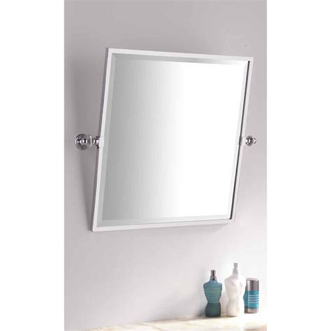 Tilting Bathroom Mirror by Bathroom Square Framed Tilting Mirror