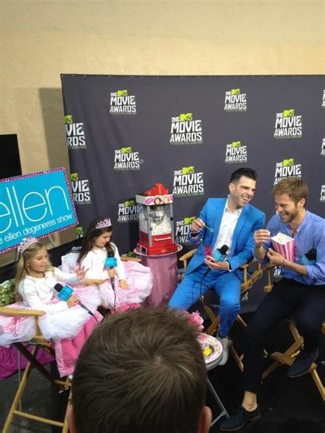 zachary quinto interview ellen zachary quinto and chris pine interviewed by sophia grace