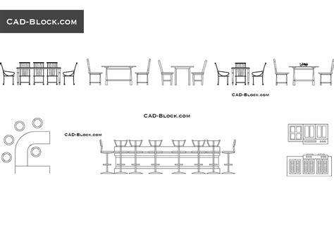 dining tables elevation cad blocks