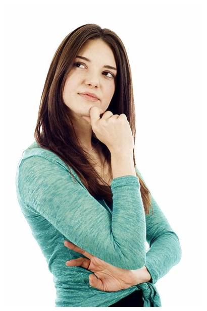 Thinking Woman Person Background Think Tongue Transparent