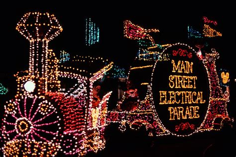 parade disneyland america the circus and disney characters oh my a brief Light