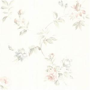436-42314 White Floral Trail - Adeline - Brewster Wallpaper