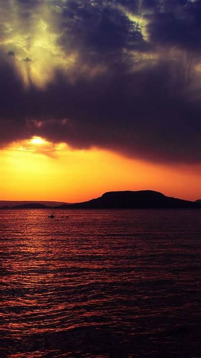 Senja Sunset Pemandangan Android Iphone Laut Langit
